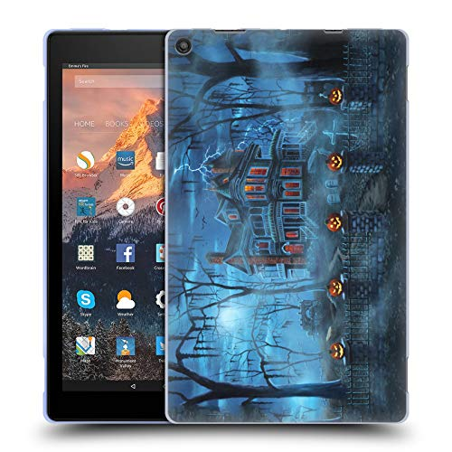 (Head Case Designs Offizielle Geno Peoples Art Neblig Magie Halloween Soft Gel Hülle für Amazon Fire HD 10 (2017))