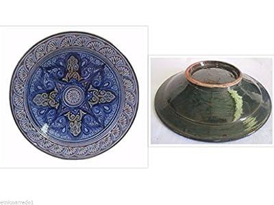 Moroccan Couscous Antipasti Tray Plate Terracotta Pottery Tagine Moroccan Diameter 35 from Artigianato Marocco