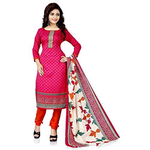 Fashion Dream Women's polly Cotton Unstitched Salwar Suit Dress Material