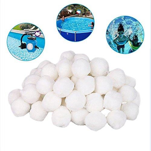 MMLC Filter Balls 700g Filtermaterial für Poolpumpe,rsetzen 25 kg Filtersand für Pool Sandfilter Ersatzprodukte Filterfaserkugel (Weiß)