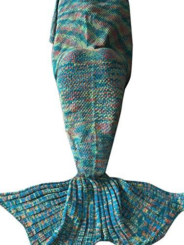 YiZYiF Meerjungfrau Decke Handgemachte Gestrickt Schlafsack Strick Decke Blanket Mermaid Tail Kostüm für Baby Mädchen Damen (Für Damen, (Halloween Baby Kostüme Meerjungfrau)