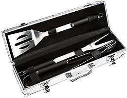 Bruzzzler Edelstahl Grillbesteck-Set 3-teilig im Koffer