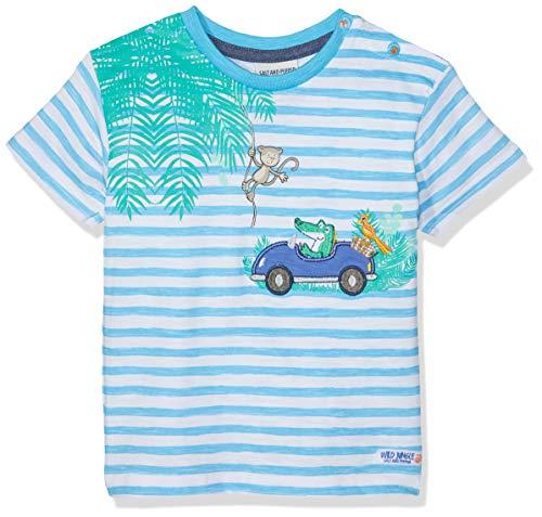 SALT AND PEPPER Baby-Jungen T-Shirt B Jungle Stripe, Blau (Scuba Blue 457) 86
