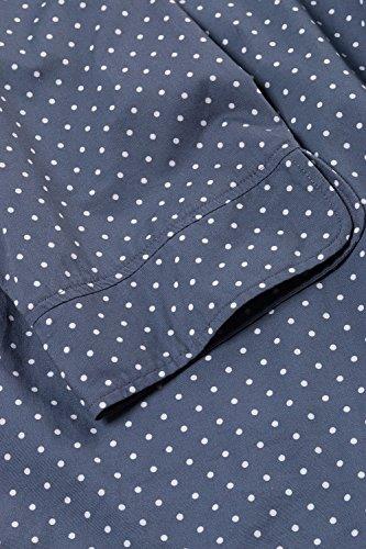 Ulla Popken Femme Grandes tailles Ulla Popken Femme Grandes tailles Blouse Femme en Coton Imprimée à pois, Manches 3/4 Tunique Chic 706354 706354 bleu-gris