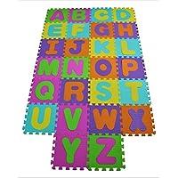 Soft Baby Children Play Mat Gym Foam Alphabet 26 Piece Each Tile 31.5 cm x 31.5 cm / 1cm Thick with Pattern Textured Surface (Superior Quality)
