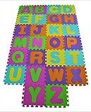 Tapis de jeu doux pour bébé en mousse de l'alphabet 26 pièces de chaque dalle 31,5...