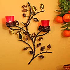 Homesake Tree with Bird Nest Votive Stand Wall Candle Holder and Free Tealight Candles