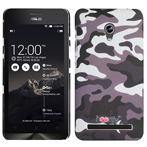 Heartly Army Style Retro Color Armor Hybrid Hard Bumper Back Case Cover For Asus Zenfone 5 Lite A502CG - Ash Brown  available at amazon for Rs.249