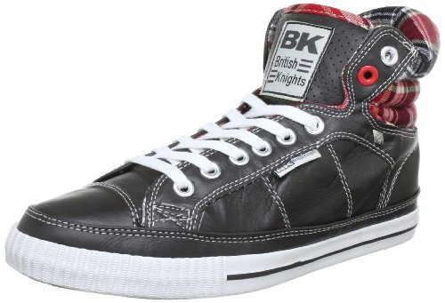 British Knights B31-3713Ca, Baskets mode homme Gris (Dk. Grey/Red 11)