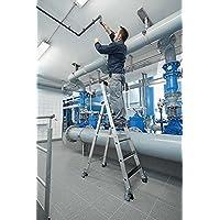 Aluminio Escalera de tijera (–Clip de step–de tijera (, con ruedas, 12niveles–41912