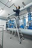 Aluminium-Stehleiter - clip-step - einseitig begehbar, mit Rollen, 6 Stufen - 41906