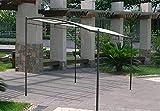 DISRAELI Gazebo a 'Muro' in Metallo con Copertura Ecrù in Poliestere e PVC 3x2,5 m
