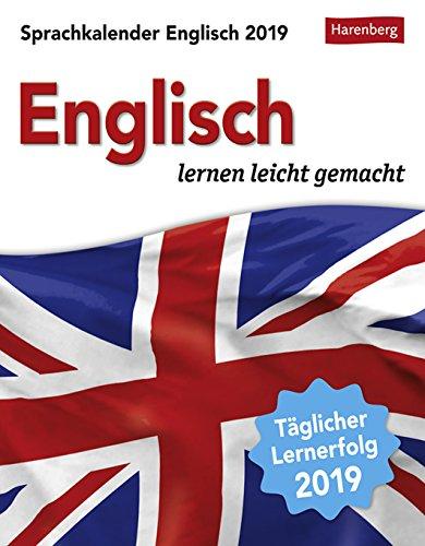 Sprachkalender - Englisch lernen leicht gemacht - Kalender 2019 - Harenberg-Verlag - Tagesabreißkalender - 12,5 cm x 16 cm