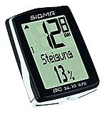 Sigma Sport Fahrrad Computer BC 14.16 STS, 14 Funktionen, Höhenmessung, Kabelloser Farradtacho, Schwarz - 3