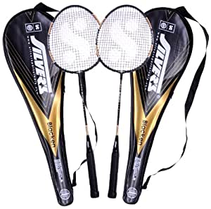 Silver's Blacken 2 Racquets with Cover Badminton Racquet