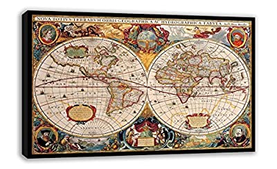 Old World Map Cartography Ancient Atlas Of The World Canvas Wall Art produced by Dynamo Printing Ltd - quick delivery from UK.