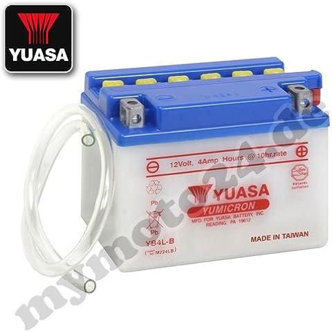 Batería Yuasa YB4L de B, 12V/4Ah (Dimensiones: 121x 71x 93) para Benelli K250Ac/Namur de año