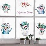 YXWYL Warme Blumen Und Pflanzen Wandaufkleber Schlafzimmer Badezimmer Küchenschrank Fenster DIY Kunst Decals Home Decor Poster Wandbilder