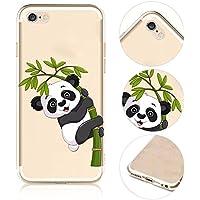 iPhone 6S Panda Coque iPhone 6 6S TPU Bumper Couvertrue,QianYang Cartoon Animals Etui pour iPhone 6 6S Transparente Housse pour iPhone 6 6S Silicone Souple Case Cover