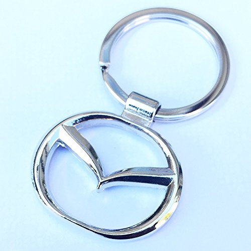 iTech ® Mazda Chrome Metal Car Logo Keyring Key Fob Keychain