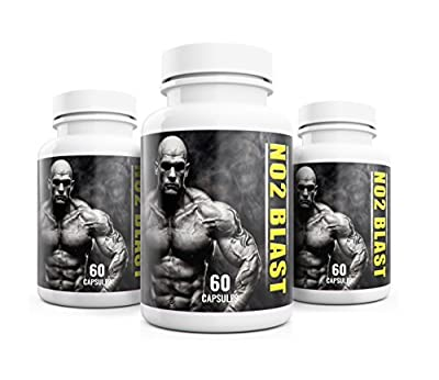 NO2 Blast Biogenic Male 6 Month Supply Optimised Formula Weight Gain & Libido Enhancer for Men UK Manufactured Supplement Bundle - Premium Nitric Oxide L-Arginine Supplement NO MAX SHRED from Natural Answers