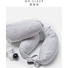Las almohadas de látex natural el cuello en forma de U de Almohadas Almohada de viaje almohadas almohada cervical almohada de avión U-forma del cuello almohada 64*16.5cm