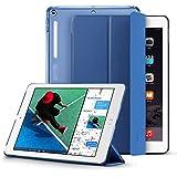 ESR Funda Nuevo iPad 2017 con Auto-Desbloquear y Función de Soporte [Fácil de montar] [Mejorada Protección a Esquinas] de Cuero Sintético y Plástico Duro para Apple New iPad 2017 de 9.7 pulgadas -Azul marino
