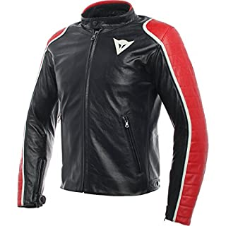 SPECIALE LEATHER JACKET, Black/Red, Size 50 (B0745CFK62)   Amazon Products