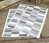 Rechteckige Wandaufkleber in Mosaik-Optik - ideal für Fliesen, Glas, Holz und alle anderen glatten Oberflächen Stickerbogen