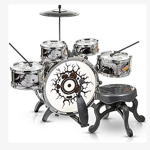 HUANGFU Drum Set Simulazione Jazz Tamburo Musica a percussione per Bambini Batteria Iprincipianti migliorano i Giocattoli del Gioco intellettuale