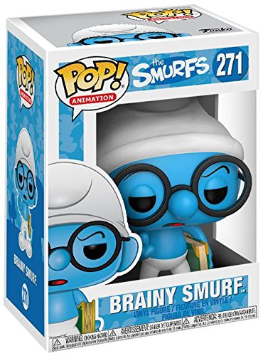 Die Schlmpfe Pitufos Figura Vinilo Brainy Smurf 271 Figura de coleccin
