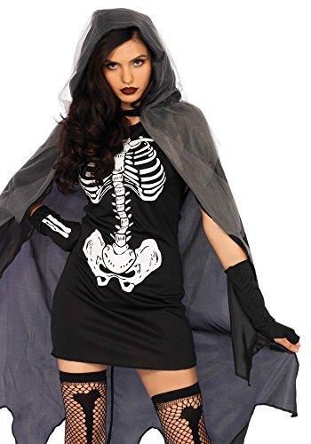 Wonderland W5039705007 Grim Reaper Damenkostüme, Damen, Schwarz, Weiß, Größe S/M (EUR 36-38) - Spielzeug Grim Reaper
