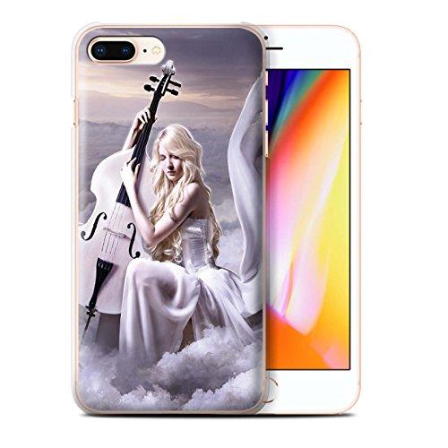Officiel Elena Dudina Coque / Etui pour Apple iPhone 8 Plus / Harpe/Harpiste Design / Réconfort Musique Collection Violoncelle/Nuages