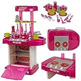 Oypla 3482oyp Kinder Kids Mädchen Play Elektronische Küche Kochen Spielset, Pink