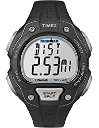 Timex Men's Quartz Watch with LCD Dial Digital Display and Black Resin Strap TW5K86500