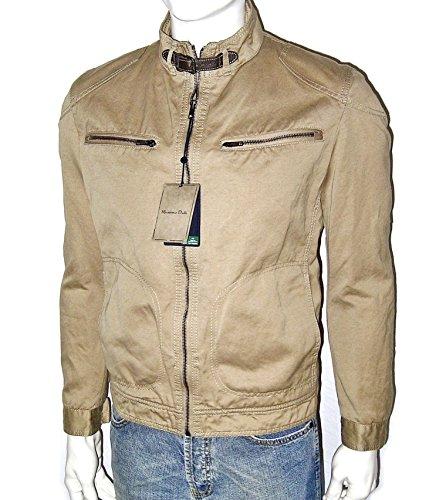 Massimo Dutti da uomo giacca, tempo libero, Desert Biker Jacket Vintage, lino Bike giacca da mezza stagione, taglia L + XL (Slim Fit, taglia fällt piccolo) Desert (Wüsten-Sand/Beige) L *slim-Si Adatta, (fällt eher Come Taglia M Via)