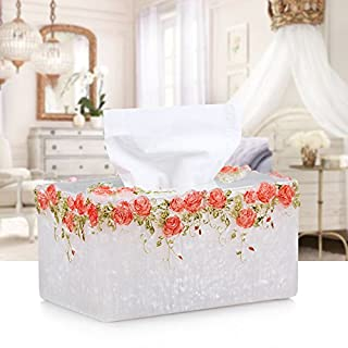 Lx.AZ.Kx Ornaments Paper Box Continental Resin Suction Tray Paper-Compartment Home Stylish Rose Garden Paper Towel Andk