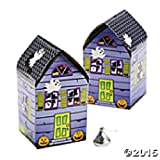 Set of 12 Haunted House Shaped Favor Box...