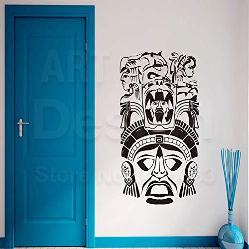 Zhuhuimin arte di alta qualità nuovo design in vinile antico civiltà wall sticker staccabile home decor maya totem decal nella stanza 3 58x111 cm
