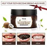 Poudre de blanchiment dentaireY.F.M.Blanchiment Dentaire,Poudre pour blanchir les dents au Charbon Active Coconut,Contre la mauvaise haleine,les taches tenace,Améliorer la Santé Bucco-dentaire 50g