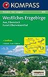 Westliches Erzgebirge: Aue, Eibenstock, Kurort Oberwiesenthal. Wander- Bike- und Langlaufkarte. 1:50.000