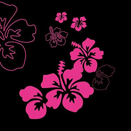 Apple iPhone 5 Case Skin Sticker aus Vinyl-Folie Aufkleber Blumen Schwarz Pink Muster DesignSkins® glänzend