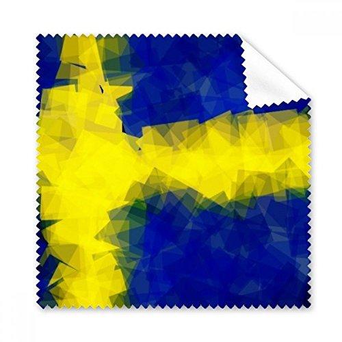 Schwedische Abstraktes Flagge Muster Brille Reinigungstuch Reinigungstuch Geschenk Handy-Display von 5x