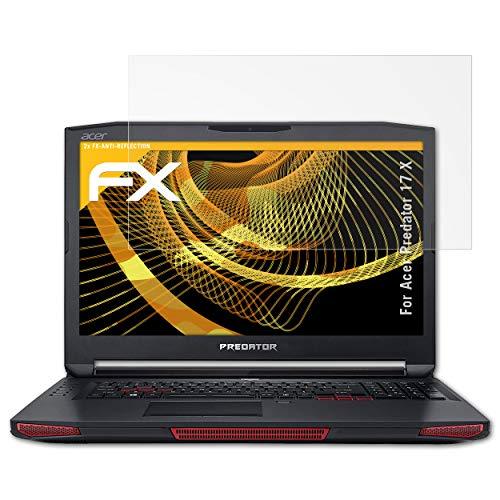 atFolix Panzerfolie kompatibel mit Acer Predator 17 X Schutzfolie, entspiegelnde & stoßdämpfende FX Folie (2X)