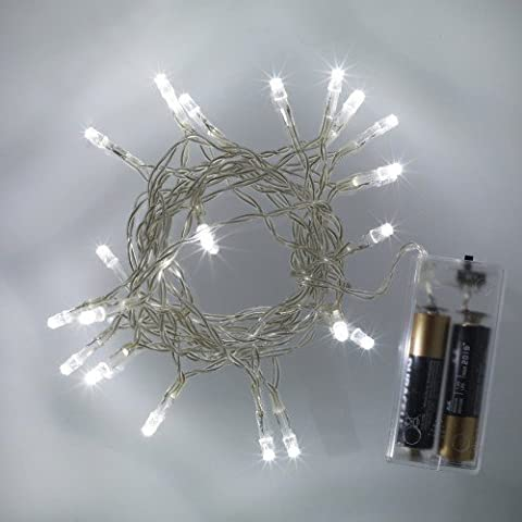 Battery Operated Fairy Lights with 20 White LEDs by eBuzz