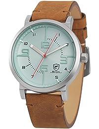 SHARK hombre deportivos Cuarzo relojes de pulseras cuero SH569