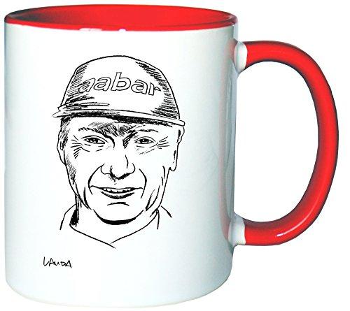 Mister Merchandise Tazzine da caffè Coffee Niki Lauda Tazze Grandi Tazza Teiere, Molti Colori