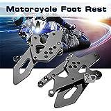 KIMISS 1 par de CNC Reposapiés de Motocicleta Ajustables Clavijas de pie traseras para Kawasaki Ninja
