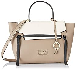 Cathy London Womens Handbag, Material- Synthethic Leather, Colour- Khakhi/Beige