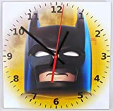 Quartz Wanduhr mit Lego Batman Motiv